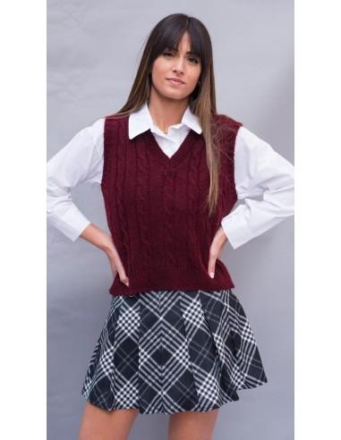 Chaleco tricot ochos